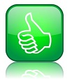 Square Thumbs Up & Down Buttons