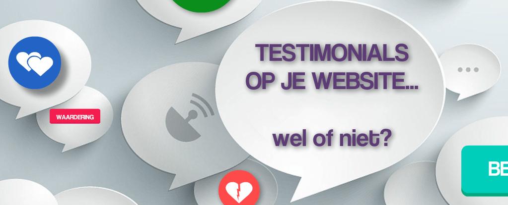Testimonial op je website, wel of niet?