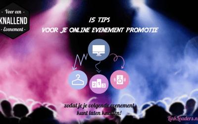 15 tips voor je online evenement promotie