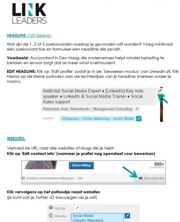 Linkedin Profiel handleiding